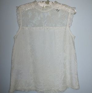 Forever 21 Lace Sleeveless Blouse Top Size S
